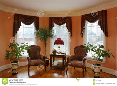 Bow Window Ideas salone con il bovindo fotografia stock immagine di baia