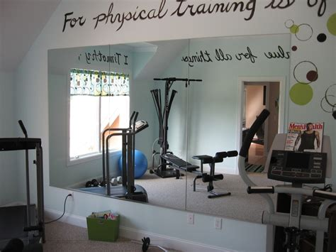 flat mirrors in workout room home
