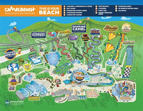 map of us water parks poconos outdoor water park camelbeach waterpark map