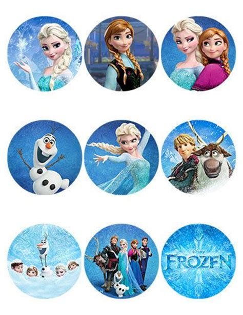 printable round stickers sheet disney frozen stickers sheet of 9 2 5 inch round