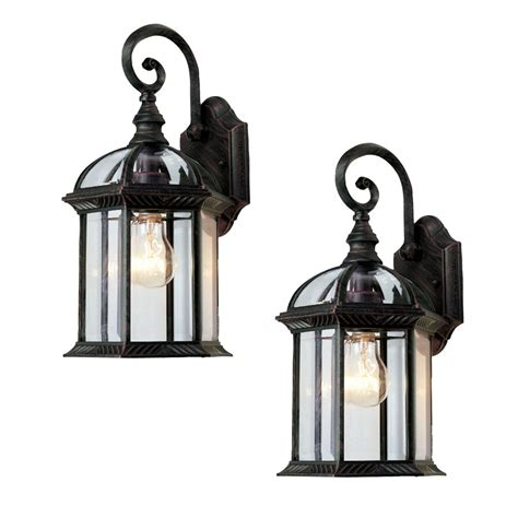 Bel Air Outdoor Lighting Bel Air Lighting 2 Pack Rust Outdoor Wall Lanterns Lighting Ideas