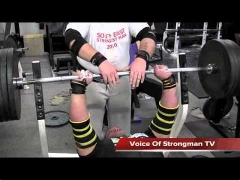 terry hollands bench press vos tv terry hollands training 20 02 12 youtube