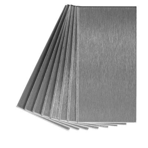 aspect grain 3 in x 6 in metal decorative tile