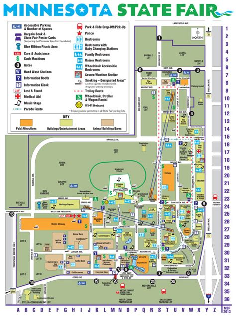 state fair parking map minnesota state fair maps and directions