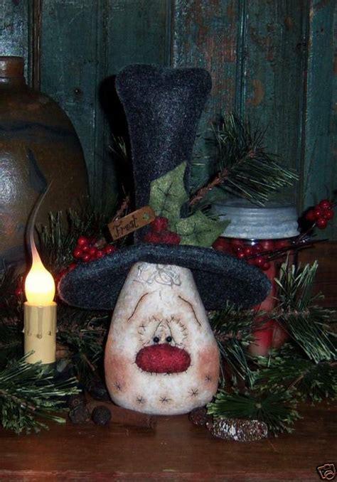 primitive snowman christmas frosty doll pattern  ebay