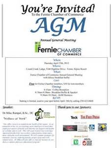 fernie chamber of commerce agm fernie chamber