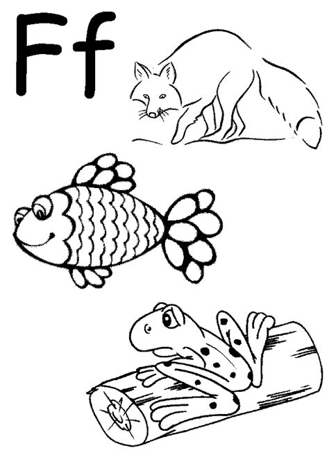 preschool coloring pages letter f free coloring pages of letter f worksheets