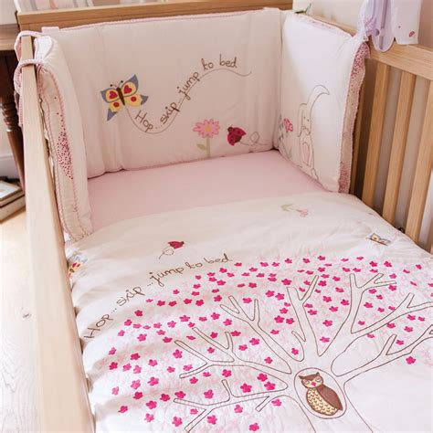Pink Cot Bumper And Quilt Sets by Buy Pink Lining Cot Quilt Bumper Set Hop Skip Jump