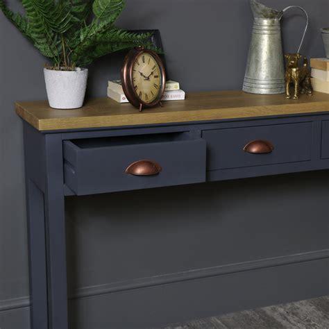 dark gray  drawer console table grayson range melody