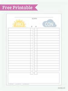 pros and cons worksheet template pro vs con free printable pdf print it fonts