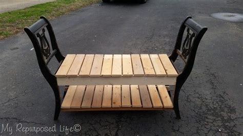 bench made from chairs end of bed bench made from chairs my repurposed life 174