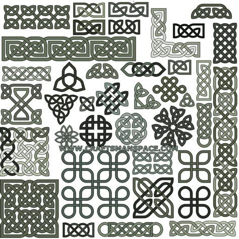 Knot Designs - collection of 39 celtic knot patterns in eps or