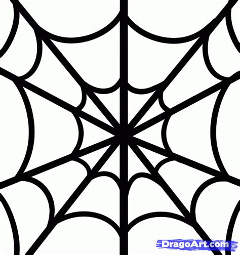 drawing web how to draw a spiderweb for step by step