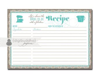 typeable recipe card template etsy gold modern script bridal shower invitation by