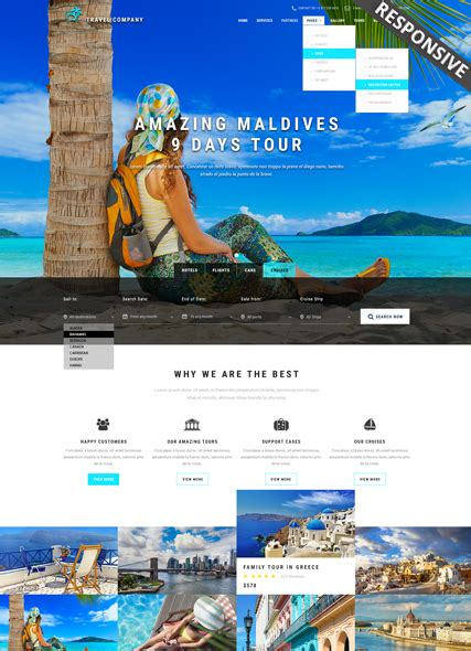 bootstrap templates for travel website travel bootstrap template id 300111895 from simavera com