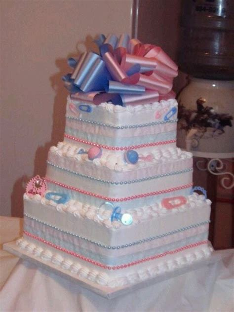Baby Shower Square Cakes by Square Baby Shower Cake Cakes
