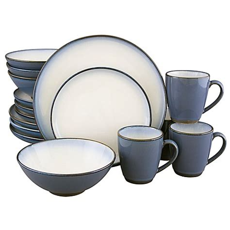 sango 174 concepts 16 dinnerware set in eggplant bed