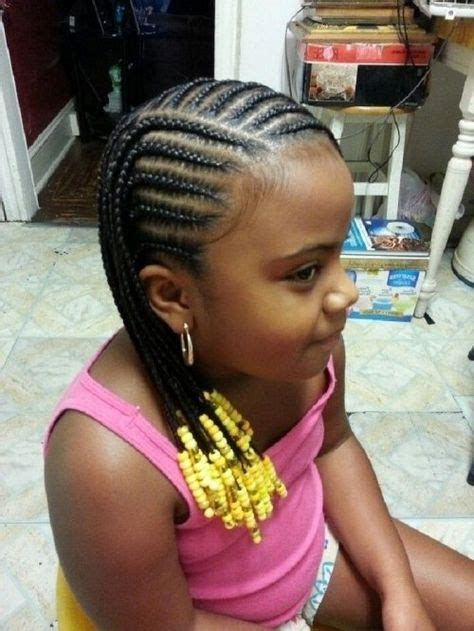 girl hairstyles with beads little black kids braids hairstyles picture regarding
