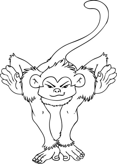 coloring page spider monkey free printable monkey coloring pages for kids