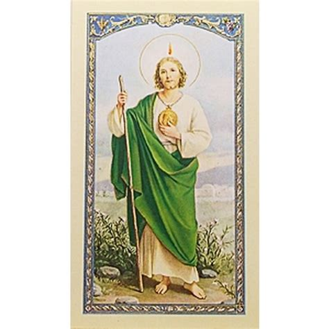 oraci 243 n a san judas tadeo st jude spanish prayer card