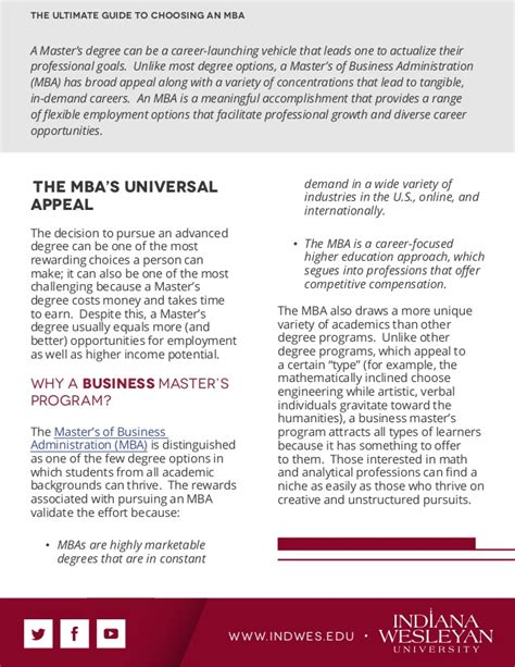 Tips For Choosing An Mba Program by The Ultimate Guide To Choosing An Mba