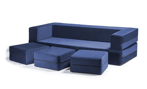 zipline room convertible sleeper sofa ottomans