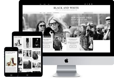 Black And White Website Templates Holdingfidens Com White Website Templates