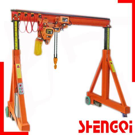 China Manual Gantry Crane Portal Crane 500kg 1000kg 2t