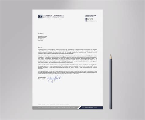 modern business letterhead modern professional letterhead design for rowan pack by
