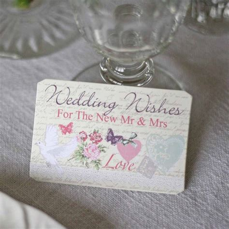 Wedding Wishes On Gift Pack by Floral Wedding Wishes Cards Alternative Guest Book By The