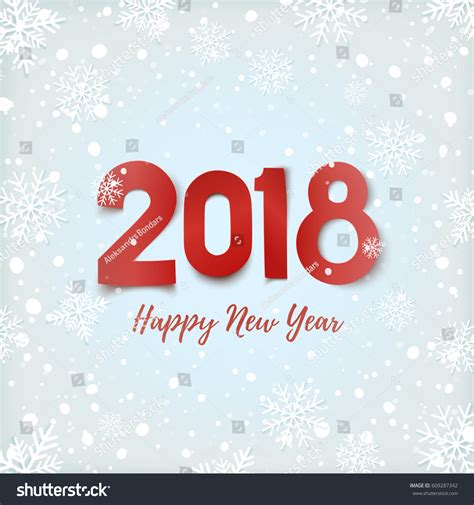 new year cards 2018 template happy new year 2018 winter background stock vector