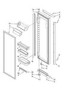Parts For Kitchenaid Dishwasher For Door Refrigerator Door Parts Diagram Parts List For Model
