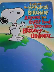 birthday card snoopy jess and snoopy