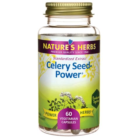 Celery Extract By Sea Quill nature s herbs celery seed power 60 veg caps swanson