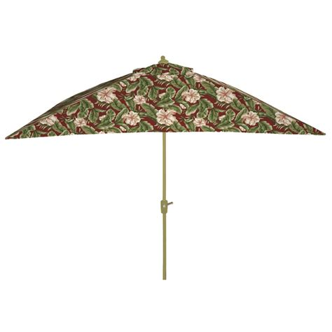 Floral Patio Umbrella Arden Companies 9 Ft Rectangular Umbrella Palm Floral