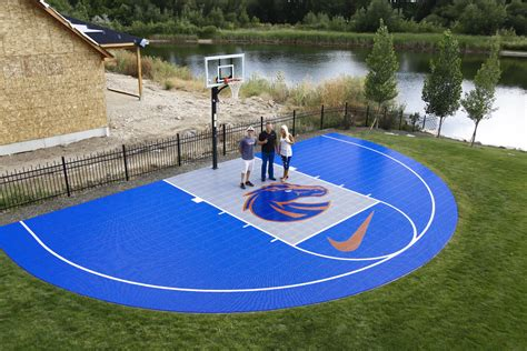 basketball court in backyard concrete basketball courts e j and dirt work view our