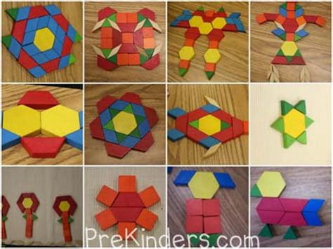 different patterns using geometric shapes teaching shapes in pre k prekinders