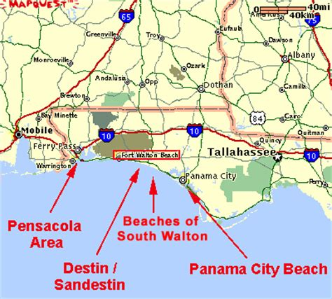 map of ta florida and surrounding area alf img showing gt destin and surrounding areas map