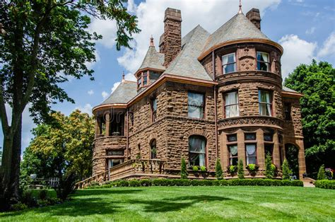 queen anne house a newly built 18 000 square foot brick queen anne style home stock image image of material