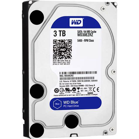 Wd Blue Harddisk 3 5 3tb wd 3tb blue 3 5 quot drive wd30ezrz b h photo