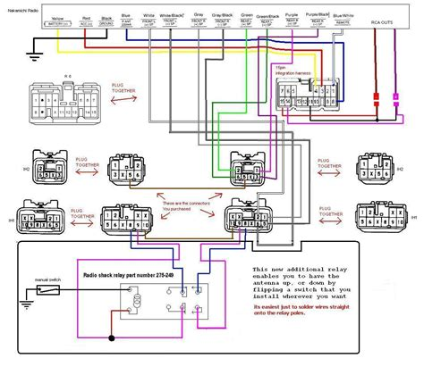 wiring diagram of fujitsu ten car stereo circuit and