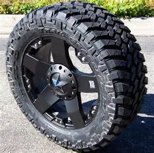 Trail Tire Rims 20 Quot Black Xd Rockstar Wheels 35 Quot Nitto Trail Grappler Ford