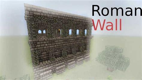 minecraft walls tutorial minecraft roman wall tutorial youtube