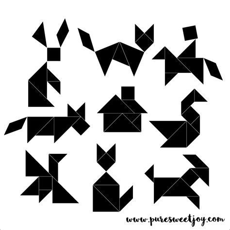 Tangram Modèles Et Solutions tangram magnets diy sweet