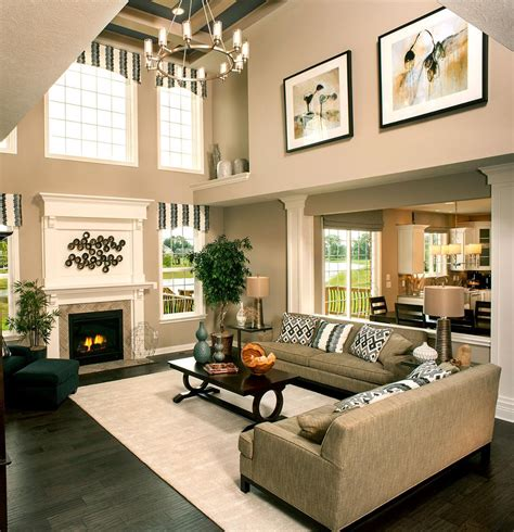 Family Room Decor Breaking Up A Two Story Wall Two Story Family Room Breaking Up Great Rooms And
