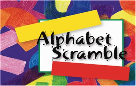 alphabet scramble books pdrib braille activities for children