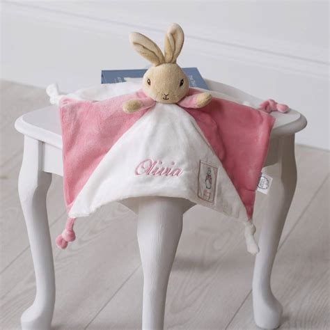 comfort bunny personalised flopsy bunny baby comfort blanket by that s