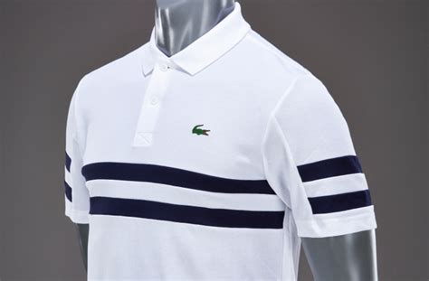 mens clothing lacoste golf polo shirt white navy blue