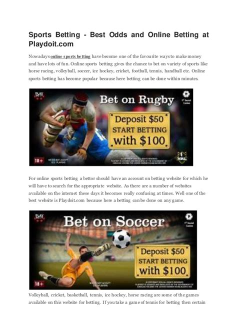 best odds sports betting best odds and betting at playdoit