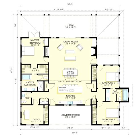 Farmhouse Floor Plans | 4 bedroom 4 bath 1 story house plans house plans 4 bedroom